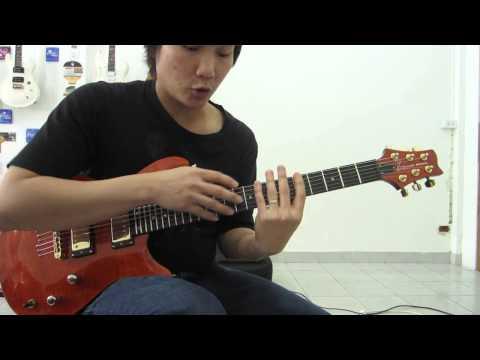 อ.โอ๋ แบบฝึกหัดกีตาร์ จิ้มสายกับสเกลเพนทาโทนิคข้ามสาย Guitar Lesson Tappng With String Skipping