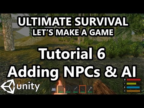 6. Unity Tutorial - How to make a Survival Game - Adding Enemy NPCs and AI