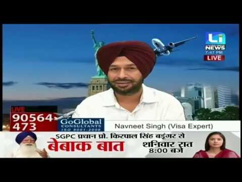 Visa Live with Navneet Singh(Go Global Consultant) on Living