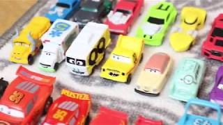 Box full of plastic toys, collectibles, Disney cars, hot wheels, paw patrol for kids!
