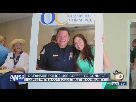 Oceanside police use coffee to connect with the community