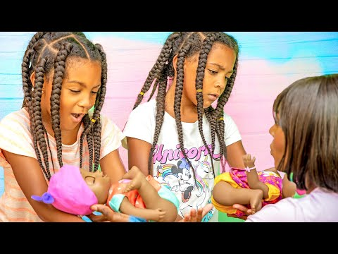 7-Year Old Twins Become Moms? | Baby Alive Baby Grows Up Doll