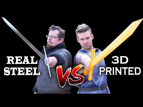 Steel vs 3D printed, SWORDS and CHAINMAIL, with Shadiversity and Draw with Jazza