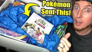 Pokemon Sent Me A HUGE BOX OF SWORD AND SHIELD POKEMON CARDS To My House! (Booster Box Opening)