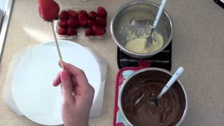 Chocolate Covered And Drizzled Strawberries