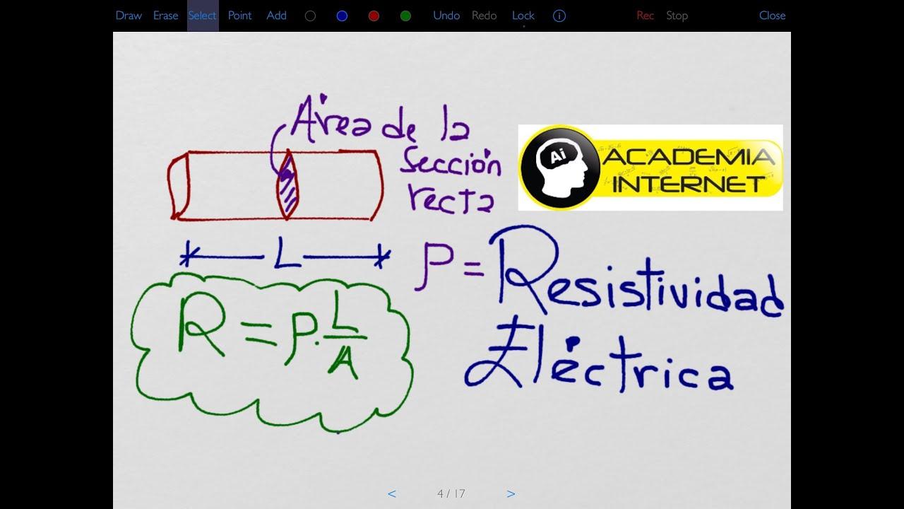 Resistividad El 233 Ctrica Resistencia El 233 Ctrica Youtube