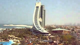 BURJ ALARAB HOTELJUMEIRAH BEACH HOTEL  VIEW  FROM WILD WADI WATER PARK BY GAUTAM KOPPALA