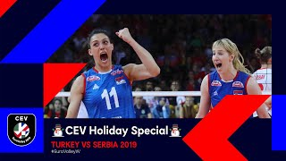 Turkey vs Serbia FULL MATCH | #EuroVolleyW 2019 | CEV Holiday Special