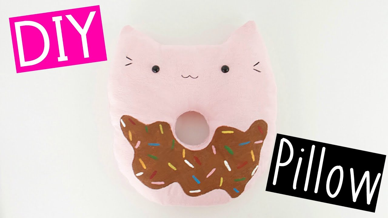 Diy Cat Donut Pillow Youtube