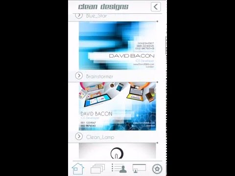Business Card Creator PRO tutorial for iPhone by DavidiSoft - David Sandonato