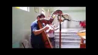 Roberto Gimenez e sua harpa