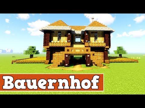 Wie Baut Man Einen Bauernhof In Minecraft   Minecraft Bauernhof Bauen Deutsch