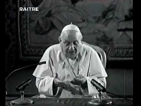 Papa Giovanni XXIII spiega che l'opera del Papa è per tutti
