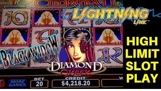 Live Slot Play In High Limit Room At THE COSMOPOLITAN In Las Vegas - Cleopatra 2, Black Widow & More