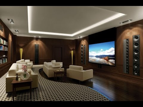 Delightful Living Room Home Theater Room Design Ideas