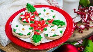 Poinsettia Christmas Cookies - Home & Family