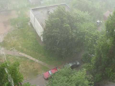 Ливень в Курске. 28 июня 2016