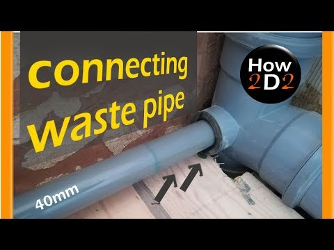 how to connect waste pipe into branch boss pipe