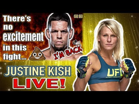 🔴 UFC RETURN OF NATE DIAZ + JUSTINE KISH LIVE!