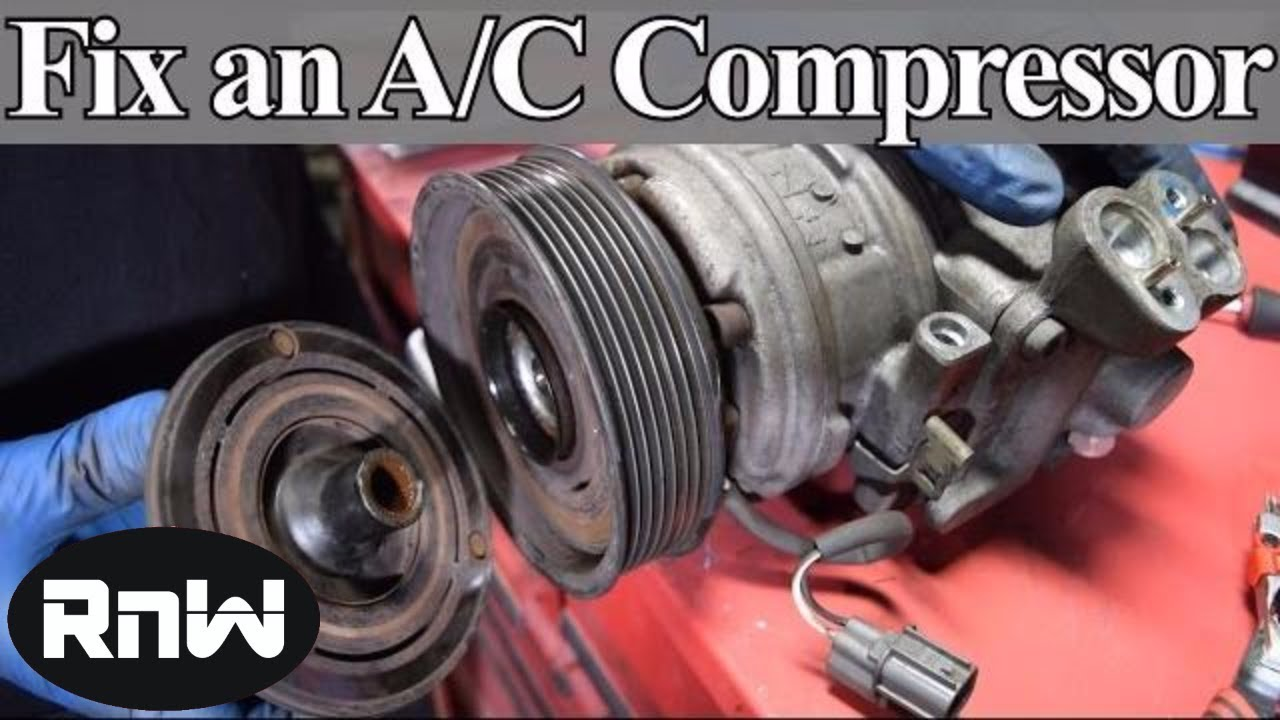 how to diagnose and replace an a c compressor coil clutch and bearing on your car [ 1280 x 720 Pixel ]