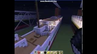 R.M.S Titanic,Olympic,Britannic Minecraft