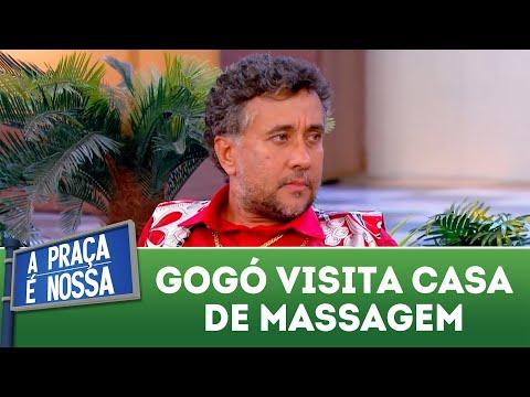 Gogó visita casa de massagem | A Praça é Nossa (02/08/18)