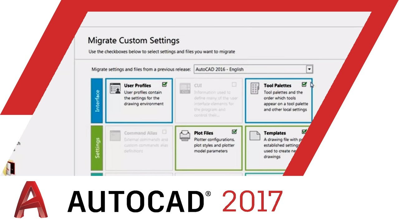 how to migrate settings autocad 2017 tutorial autocad youtube