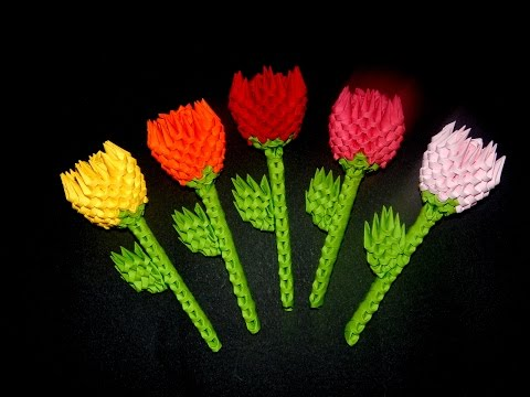 3D Origami small flower  tutorial | DIY paper  flower