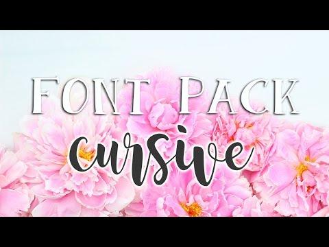 Favorite Fonts (Script/Cursive) - Font Pack #1