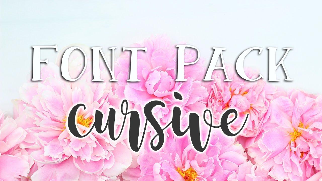 Download Favorite Fonts (Script/Cursive) - Font Pack #1 - YouTube