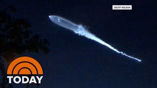 SpaceX Rocket Launch Leads Many To Think Earth Was Being Invaded By Aliens | TODAY