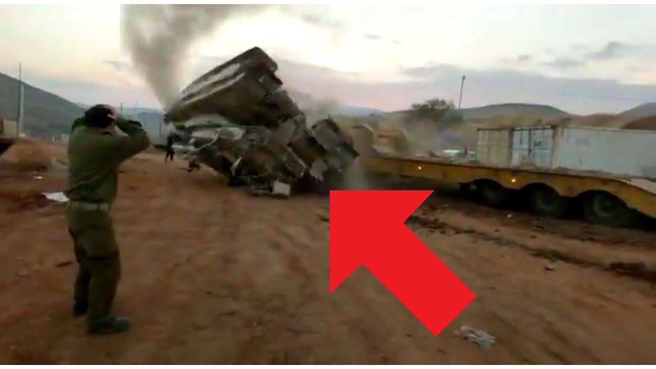 Military Fail - Tank Fail: Merkava Tank Flips Over