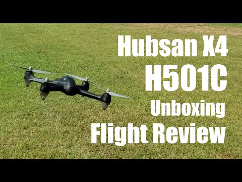 Hubsan X4 H501C - Unboxing & Flight Review - GPS/Brushless Drone
