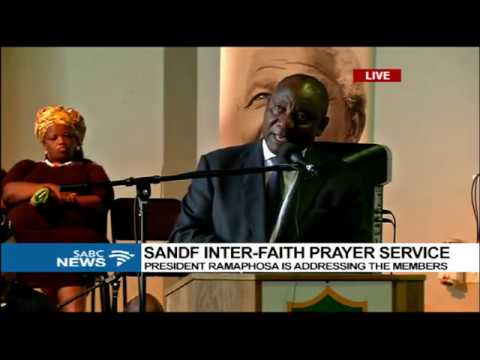 Commander In Chief Ramaphosa addresses SANDF inter-faith prayer service