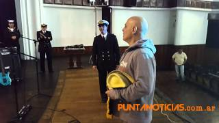 Zeta Bosio con Banda de Musica de La Escuela de Suboficiales de La Armada Argentina