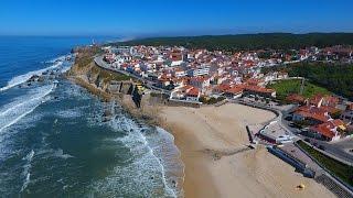 São Pedro de Moel aerial view - Farol do Penedo da Saudade - 4K Ultra HD