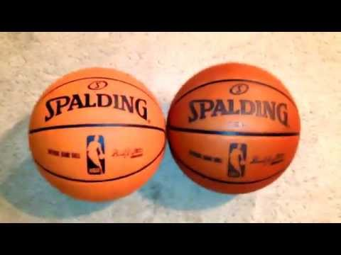 2006-2007 NBA Official Game Ball Composite vs. Genuine Leather Game Ball Spalding Cross Traxxion