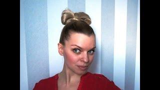 Как сделать бант на голове - hairstyle yourself bow