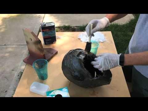 Iron Man Helmet - Time Lapse Fiberglassing