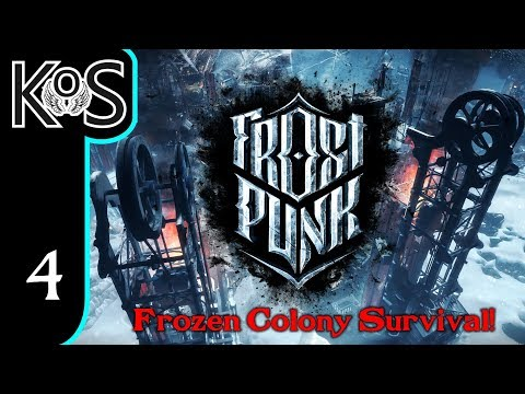 Frostpunk Ep 4: BALANCING RESOURCES - Frozen Base Survival! - Let's Play, Gameplay