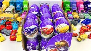 Машинки Тачки из Мультика Распаковка Шоколадных Яиц с Сюрпризом