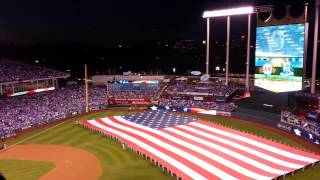 Star Spangled Banner World Series Game 1 Royals vs Giants 2014