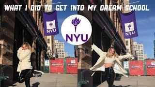How I Got Into My Dream College: NYU (My Stats + Advice)