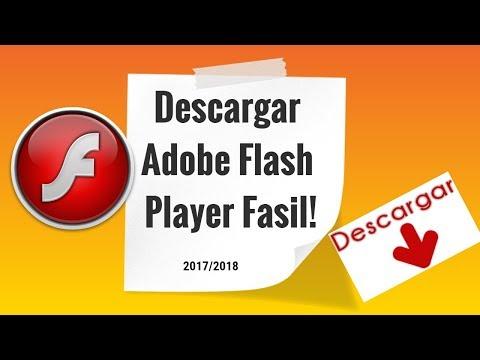 Como descargar adobe flash player 2018 Fácil y Rápido actualizado.