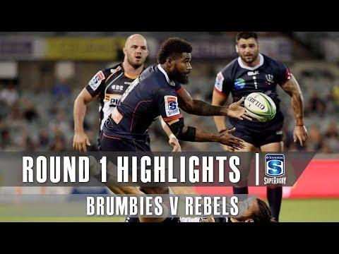 ROUND 1 HIGHLIGHTS: Brumbies v Rebels - 2019