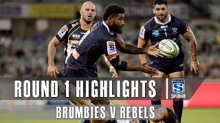 ROUND 1 HIGHLIGHTS: Brumbies v Rebels - 2019