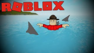 IS ATTACKED BY A SHARK IN ROBLOX!