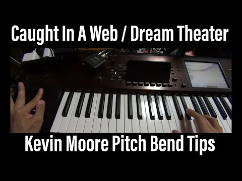 Dream Theater Caught In A Web keyboard pitch bend technique cover tutorial Kevin Moore