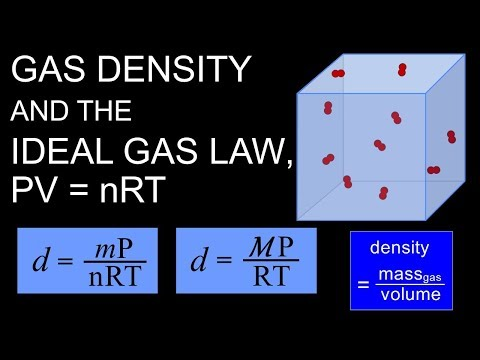 Gas Density And PV=nRT, The Ideal Gas Law
