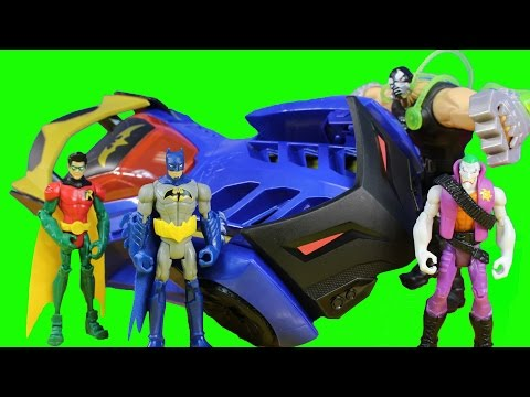 Batman Unlimited Capture Claw Batmobile With Slapstick Smack Joker Clayface And Bane